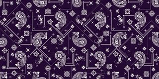 Bezszwowy wz?r opieraj?cy si? na ornamentu Paisley bandan druku Wektorowy ornamentu Paisley bandan druk Jedwabniczy szyja szalik  royalty ilustracja