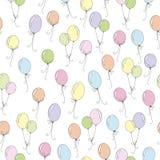 Bezszwowy wz?r z kolorowymi balonami ilustracji