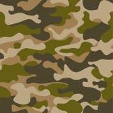 bezszwowy wzoru Abstrakcjonistyczny wojskowy lub łowiecki kamuflażu tło Brown, zielony kolor również zwrócić corel ilustracji wek Fotografia Stock