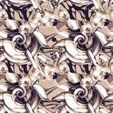 bezszwowy wzoru abstrakcyjny tło Obrazy Royalty Free