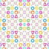 bezszwowy wzoru Akwarela geometryczni kształty w abstrakta stylu Obrazy Stock