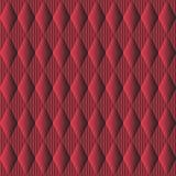 bezszwowy wzoru Czerwony tło Z Rhombus I Prąciami fotografia royalty free