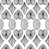 bezszwowy wzoru geometrycznego serca, owale, diamenty Obraz Royalty Free