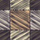 bezszwowy wzoru geometrycznego Skrobaniny tekstura Zdjęcia Stock
