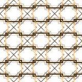 bezszwowy wzoru geometrycznego wektorowy złoty linii tło ilustracji