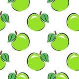 bezszwowy wzoru jabłek tła fotografii serie biały Obrazy Royalty Free
