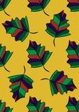 bezszwowy wzoru Jesień liście kolorowe pióra Wektorowy tło royalty ilustracja