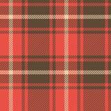 bezszwowy wzoru Kolorowa szkockiej kraty tkanina Fotografia Royalty Free