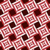bezszwowy wzoru Lampasów kwadraty czerwień i bielu tło ilustracji