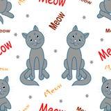 bezszwowy wzoru Meowing koty ilustracji