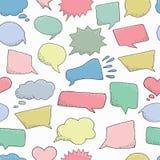 bezszwowy wzoru Myśli rama bąbla graficznej osoby mowy target14_0_ wektor Wymarzona chmura Tal royalty ilustracja