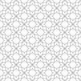 bezszwowy wzoru Niezwykła kwiecista kratownica geometryczny tło Fotografia Stock