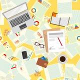 bezszwowy wzoru officemates Realistyczna miejsce pracy organizacja najlepszy widok również zwrócić corel ilustracji wektora ilustracja wektor