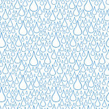 bezszwowy wzoru opadowy deszcz Obrazy Royalty Free