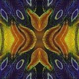 bezszwowy wzoru Piórka - dekoracyjny skład Stubarwni piórka - batik wally Używa drukowanych materiały, znaki, poczta ilustracji