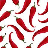 Bezszwowy wzoru pieprzu chili w origami stylu Fotografia Royalty Free