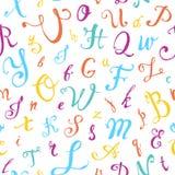 bezszwowy wzoru Ręka pisać kaligraficzni listy Obraz Stock