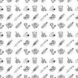 Bezszwowy wzoru set różne medyczne ikony zdyszany dba ilustracji