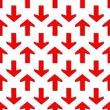 bezszwowy wzoru strzałkowatego tła czerwony biel Obrazy Royalty Free