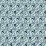 bezszwowy wzoru Trójboków kształty z grunge Obraz Stock