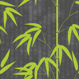 Bezszwowy wzór na tle z hieroglifu teksta wektoru ilustracją rysujący japońskiego stylu bambus Obraz Stock