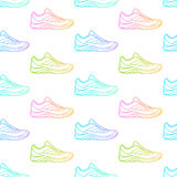 Bezszwowy wzór robić sneakers Obraz Stock