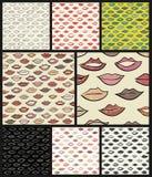 Bezszwowy wzór z barwionymi wargami Zdjęcie Royalty Free