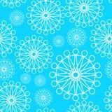Bezszwowy wzór z biel okregów kwiatami Zdjęcie Royalty Free