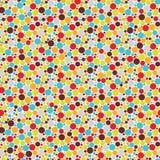 Bezszwowy wzór z chłodno kropkami. Obrazy Stock