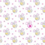 Bezszwowy wzór z małymi szarymi myszami Obraz Stock