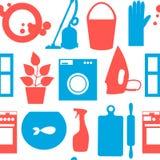 Bezszwowy wzór z przedmiota domowym cleaning Fotografia Stock