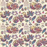 Bezszwowy wzór z ptakami raj Obraz Royalty Free
