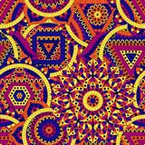 Bezszwowy wzór z siedem chakras Orientałów ornamenty dla sztandarów dla twój projekta lub, karty i Buddyzmów dekoracyjni elementy Zdjęcia Stock