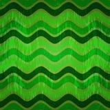 Bezszwowy wzór z zielonymi fala Zdjęcia Royalty Free