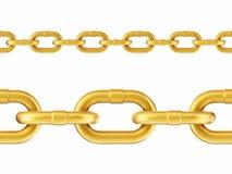 Bezszwowy złoto łańcuchu wzór ilustracja 3 d royalty ilustracja