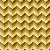 Bezszwowy złoty abstrakta wzór Geometryczny zygzakowaty druk komponujący zygzag wykłada złotego, kolorów żółtych kolory Złoto ilustracji