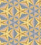 Bezszwowy Złoty i Srebny Barwiony Poligonalny wzór Metalu Barwiony Geometryczny Abstrakcjonistyczny tło Obraz Royalty Free