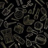 Bezszwowy złoty piękno ikony Obrazy Stock
