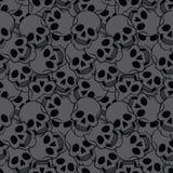 Bezszwowy z czaszkami Obraz Royalty Free