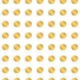 Bezszwowy złocisty kropka wzór royalty ilustracja