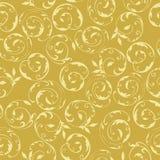 Bezszwowy złocisty kwiecisty zawijasa wzór Fotografia Stock