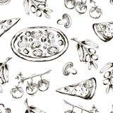 Bezszwowy z pizzą Zdjęcia Royalty Free