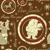 Bezszwowy z Santa Zdjęcie Royalty Free