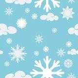 bezszwowy zatwierdzenia płatek śniegu Obraz Stock
