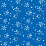 bezszwowy zatwierdzenia płatek śniegu Rocznik zimy tło Boże Narodzenia 2019 Wektorowa ilustracja EPS10 ilustracja wektor
