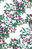 bezszwowy zieleń kwiecisty wzór wektor Obrazy Royalty Free