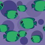 bezszwowy zieleń rybi wzór Zdjęcia Royalty Free