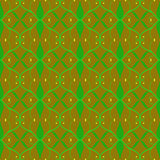 Bezszwowy zieleni, żółtego i brown kamuflażu wzór, Fotografia Stock