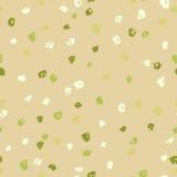 Bezszwowy zielony atrament kropek wzór płyty tła pokrywy grunge wektora również zwrócić corel ilustracji wektora Zdjęcia Royalty Free