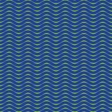 Bezszwowy Zielony błękitny fala wzoru tło Obraz Stock